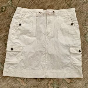LL Bean white casual skirt size 12